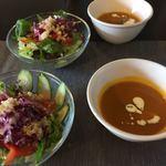 ABS - 料理写真:スープとサラダ
