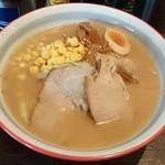 麺屋 蓮 - 味噌ラーメン750円 バター抜き平打ち仕様