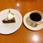 cafe Fuu - ガトーショコラとふうブレンド (ケーキセット)