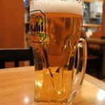 杵屋 - 生ビール(421円)
