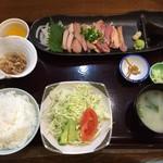 食楽々 - 鳥刺し定食 1000円