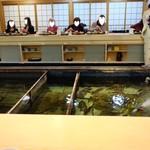 築地竹若 - 生簀を囲んむカウンター