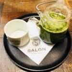 サロン ギンザ サボウ - セットのドリンクは、かりがね茶山笑う(煎茶)