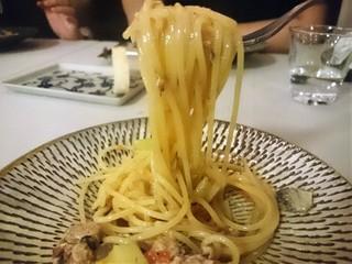 アレグロ コン ブリオ - 秋刀魚とドライトマト、長ねぎのスパゲッティーニ パスタリフト
