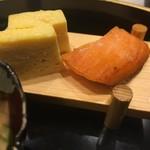 北新地 銀杏 - 出汁巻きと塩サケ