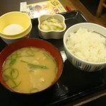 なか卯 - 110511 豚汁定食