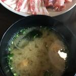 焼肉厨房 わきもと - 味噌汁