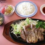 """あさひやレストラン - 料理写真:""""和風ポークソテーランチ""""¥1,050"""