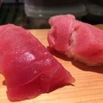 寿司源 藤沢大庭店 - 中トロ    大トロ