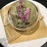 ベルギービール デリリウムカフェ レゼルブ - ホタテとグレープフルーツと野菜のカクテルサラダ