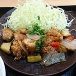 鶏彩 - 期間限定 黒酢餡定食
