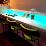 麺とかき氷 ドギャン - カウンター席