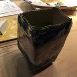 第三春美鮨 - 新作の湯飲み茶碗にて