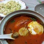 アカスディープ - シーフード野菜スープカリーとジーラライスです