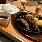 いしがまやハンバーグ - プレミアムハンバーグステーキ レギュラーセット(ライス小盛)