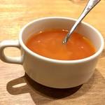 いしがまやハンバーグ - セットのスープ