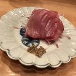 立ち呑み 三ぶん - 一口刺身(メジマグロ)