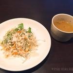 78070824 - ランチセットのサラダとスープ