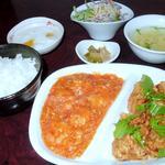 彩菜・中華ダイニング - 料理写真:エビチリと唐揚げのランチ