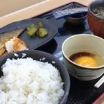 安積パーキングエリア下り線 - 朝食(サバ)@500
