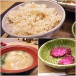 おむすびのGABA - 玄米とお味噌汁とおしんこ