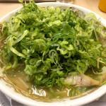 まるやすらーめん - 味噌ラーメン(ネギ多め)