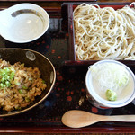 豊 - 料理写真:「二八せいろと鴨飯」のセット