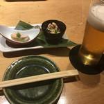 広瀬 - 生ビールとお通し