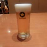 名登利鮨 - ビール