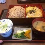翁庵 - せいろと親子丼のセット「竹」1180円
