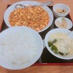 四川飯店 - 麻婆豆腐定食880円