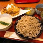 戸隠 - 京地鶏天定食
