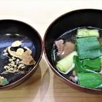Aji Fukushima - 出汁がめちゃうまの『鴨ネギのお椀』~♪(* ̄∇ ̄)ノ