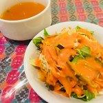 スンニマ - セットのサラダ&スープ