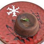 Cafe 笑壺 - ホットチョコレートケーキ