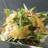 ■九条葱と水菜の湯葉サラダ