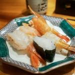 もりもり寿し - 料理写真:エビ5種