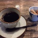 道後の町屋 - カフェのコーヒー。酸味のあるコーヒー。