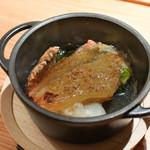 寿しの吉乃 - 焼きフカヒレに松茸