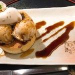 SNOOPY 茶屋 - きな粉と黒蜜の厚焼きパンケーキ