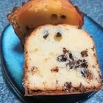 シロフジ製パン所 - チョコ入りマフィン(断面図)