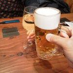 水天宮前のやきとり屋さん - 生ビールと白ワインで乾杯!