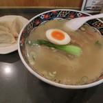 松富 - 塩ラーメン700円+水餃子350円