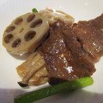 中国料理バイキング 孫悟空 - 牛肉と季節野菜の炒め