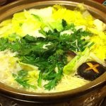 一柳 - クエ鍋 鍋
