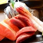 78110051 - 釧ちゃん食堂@釧路 刺身定食のお刺身