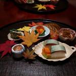 日本料理 子孫 - 八寸を自分で取り分け