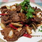 78112377 - ラム肉とクミン炒め(孜然羊肉)