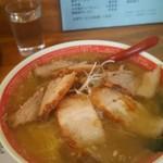 ラーメンやまき - 塩ネギチャーシュー麺大盛