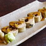 徳山鮓 - 子持ち鮎、香茸の餡
